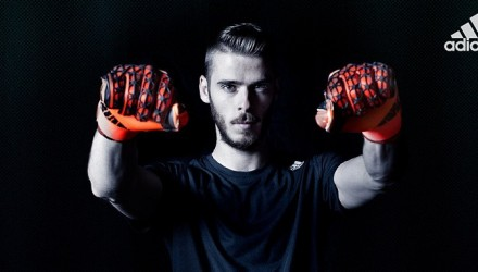 David De Gea wearing Adidas Ace Zone Pro Red