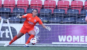 Rebecca Spencer Birmingham Goalkeeper against Liverpool